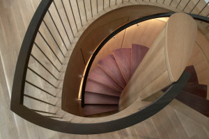 Purpleheart Spiral Staircase